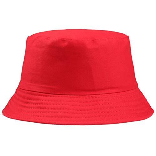 RHBLHQ Gorros de Pescador Pesca 1PC de Las Mujeres de los Hombres Adultos de algodón Sombrero del Cubo de la Playa del Verano Protector Solar Sombrero del Sombrero del Cubo Anillo Pin Sombrero for el
