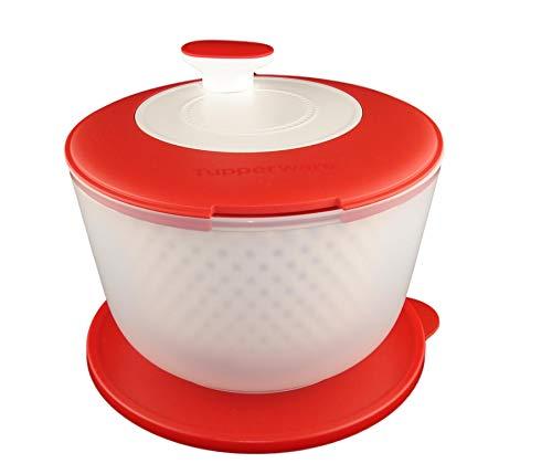 TUPPERWARE Salat-Karussell 3,8L Salatschleuder Salatkarussell weiß rot 10132