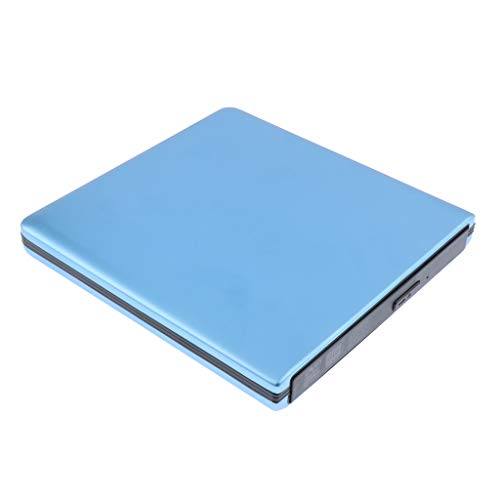 non-brand Externes DVD Laufwerk USB 3.0 CD & DVD Brenner USB für Notebook PC Netbook Laptop - Blau