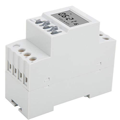 Jeanoko Montaje en riel DIN AC220V 16 on 16 Off Instalación Simple y Conveniente Interruptores temporizadores Pantalla Grande Interruptor de Encendido Temporizador TM621 Temporizador Digital para