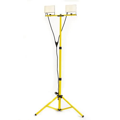 Doppio Proiettore Led su treppiede telescopico - faretti con indice di resistenza IK08 - alta stabilità - altissima illuminazione - proiettori trepiede led faro faretto cavalletto telescopico
