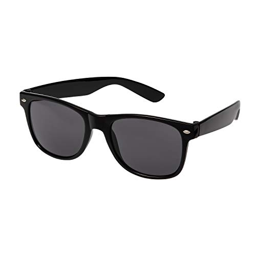 Ultra Adults Black Sunglasses with Black Lenses Unisex Retro 80s Vintage Style Cool Sunglasses Men and Women Can Wear Classic Oval Sunglasses Man Sunglasses Women UV400 Protection Eyewear Shades