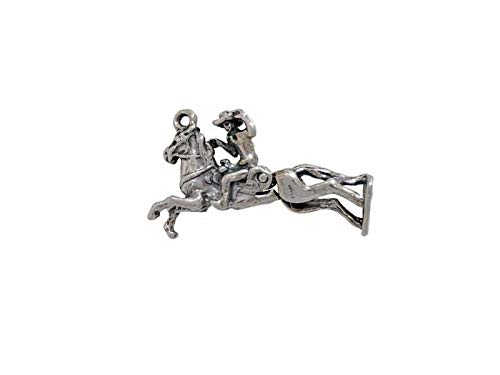 Charm Pendant - Jewelry Making DIY - Bracelet Bronco Rider Charm Moves for Equestrian or Rodeo Theme Jewelry Making Supplies