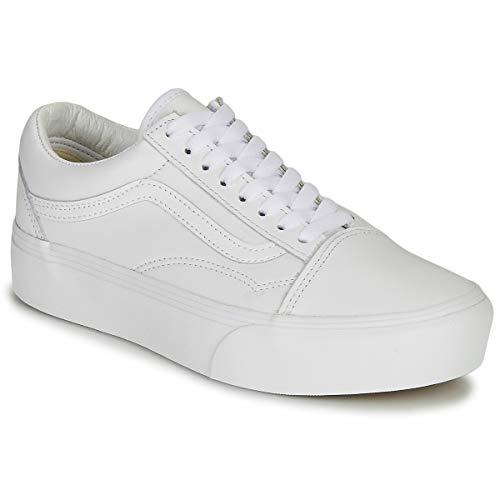 Vans Old Skool Platform-sneaker voor dames, wit