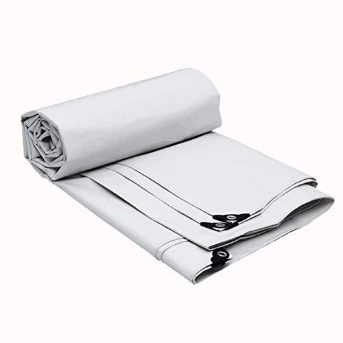Tenda Parasole Telone Da Campeggio Telone Di Plastica Panno Antipioggia Panno Vela Tela Tela, Bianco ZHML (dimensioni : 5 * 6m)