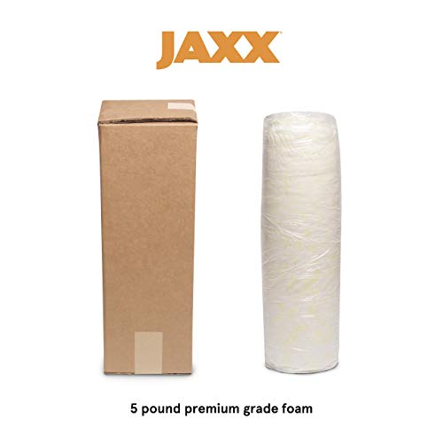 Jaxx Premium Grade Shredded Foam Filling - Refill for Pillows, Bean Bag Chairs, Dog Beds, and Cushions, 5 lb