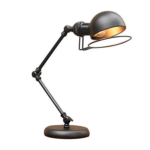 OOFAY LIGHT Stile retrò Lampada da Scrivania con Braccio Mobile A LED Orientabile A Braccio per Soggiorno da Camera da Letto Lampada da Tavolo Vintage