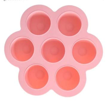 Silicone Egg Bites Mold with Lid Accessories for Pot Reusable Storage Freezer Tray with Lid-Pink