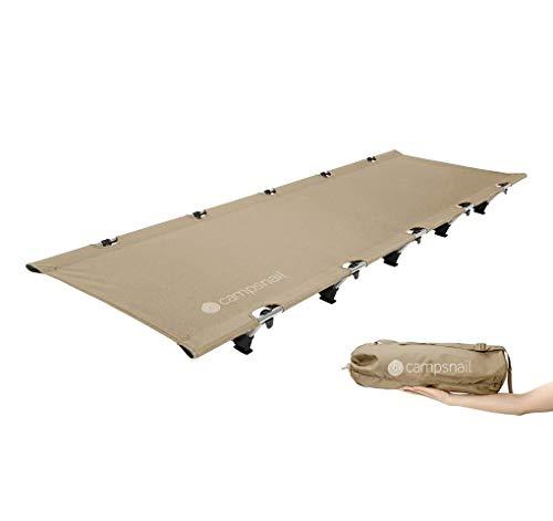 Campsnail コット キャンプ 折りたたみ ベッド アウトドア 簡易 コンパクト キャンピングベッド テントコット 耐荷重150KG 軽量 収納バッグ付き 持ち運びやすい ハイキング