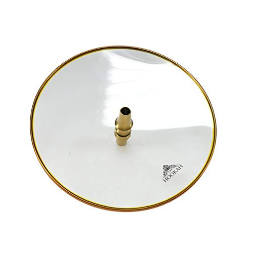 THE HOOKAH- Glaskohleteller Gold Spezial 26cm Borosilikatglas Glasteller Kohleteller 18/8 Hitzebeständig Robust Shisha Zubehör Wasserpfeife