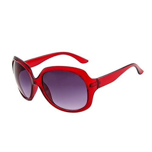Über-Groß Sonnenbrille Polarisiert für Damen/Dorical Mode Oversized UV-400 Designer-Brille Shaded Objektiv Vintage Brillen Outdoor Brille Frauen Sunglasses Travel Eyewear(G)