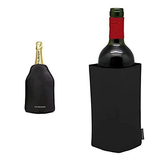 Vinbouquet fie 001 Funda enfriadora autojustable Anti Deslizante. + Funda enfriadora, Negro, 22.7 x 14.7 x 2.2 cm