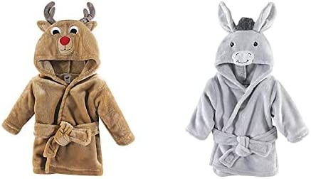 Hudson Baby Boy Plush Animal Now free shipping Bathrobe Donk Reindeer 2-Pack Classic Face