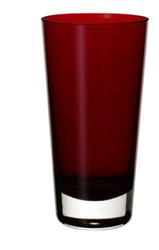 Villeroy & Boch Colour Concept Longdrinkglas Red, 420 ml, Kristallglas, Klar/Rot