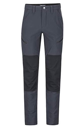 Marmot Highland Pant Short Blandos De Trekking, Pantalones para Exteriores, Resistentes Al Agua, Transpirables, Hombre, Black, 34