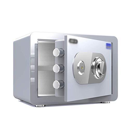 YWSZJ Password Safe Gabinete mecánica Segura pequeño Armario de época for el hogar, Caja de Seguridad ignífuga y Segura a Prueba de Agua Blanca (Size : S)
