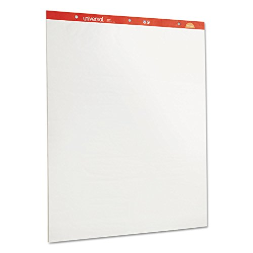 Universal 35600 Recycled Easel Pads, Unruled, 27 x 34, White, 50 Sheet 2/Carton