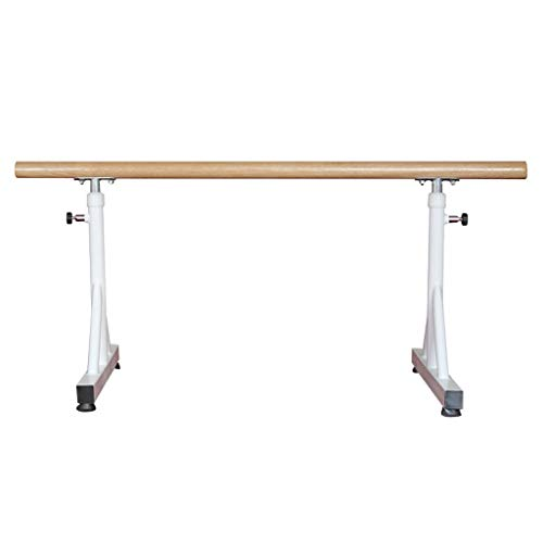 Wall Sculptures Ballet Equipment The double ballet bar Ballet Fitness Stretch Dance Bar Ballet Barre Portable for Home Adults and student Adjustable White Double Ballet Bar 150 80cm