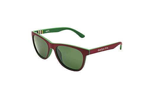 Goodbye, Rita. - Gafas de sol polarizadas doble color Burdeos y Verde - Modelo Richards - Lente ahumada