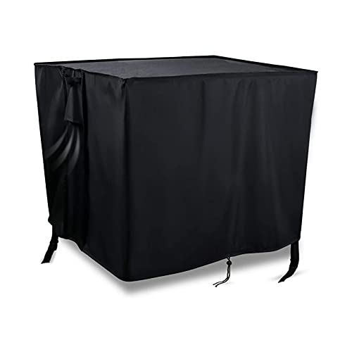 Onlyme Gas Fire Pit Cover - Outdoor Fire Pit Cover 40 x 40 Inch - Durable Anti-Fading Black Cover...