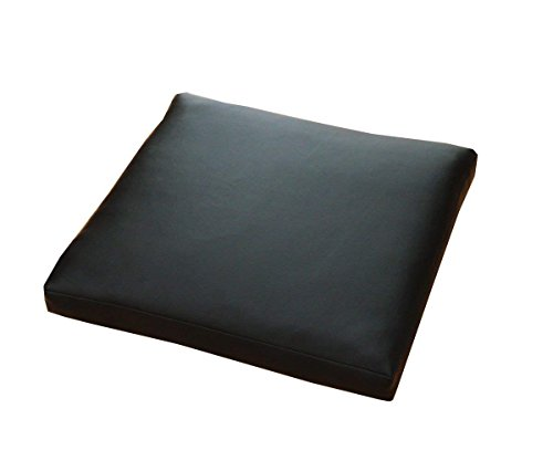 PVC ソフトレザー リビングクッション(角型座布団) 『 PVCレザークッション 』【DH】 1枚売り 約50×50×約5cm カラー:ブラック