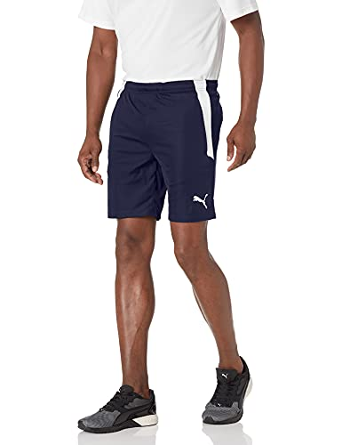 PUMA Men's TeamLIGA Training Shorts, Peacoat White, Medium