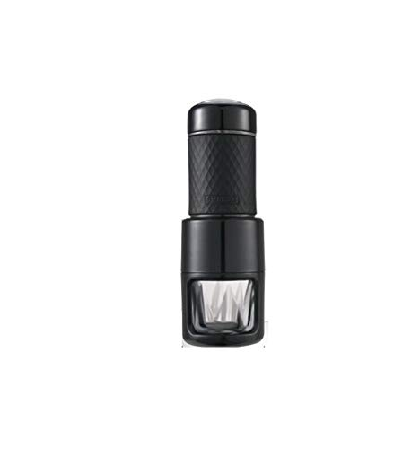 Capsule Koffiemachine Mini Handmatige Capsule Koffiemachine Huishoudelijke Draagbare Franse Druk Cup Schuimmachine Zwart