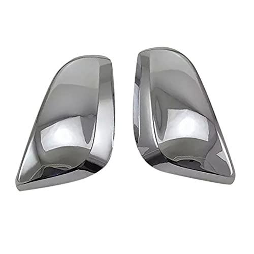 HYANG Coche cromo vista trasera retrovisor lateral de cristal espejo de espejo con marco de adorno espejo lateral tapas para toyota corolla cruz SUV 2020 2021 (Color : Silver)