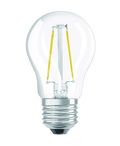 Osram LED Star Classic P Lampe, in Tropfenform mit E27-Sockel, nicht dimmbar, Ersetzt 25 Watt=2.8 Watt, Filamentstil Klar, Warmwei? - 2700 Kelvin, 1er-Pack