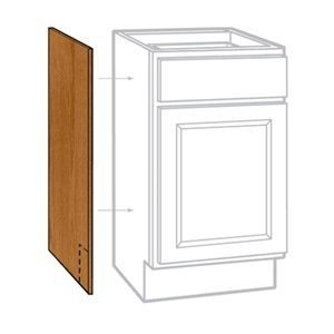 "Rsi Home Products Sales 2 Pack 24"" W X 35"" H X 1/4"" D Medium Oak Finish Base Cabinet End Panel"