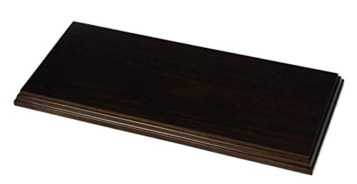 Greca Peana Rectangular. Acabado Barniz Nogal Satinado. Madera Maciza. (43 * 19 cms)