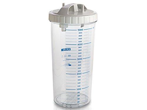Gima 28187 vaas 5 liter met deksel, autoclaveerbaar 134 °C