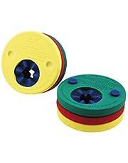 Delphin- Zwemschijven, rood-geel-groen, 4291.