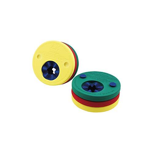 Fashy Kinder Delphin-Schwimmscheiben, rot-gelb-grün, 4291