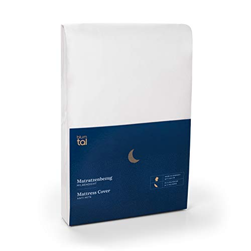 Blumtal Matratzenbezug für Allergiker, Milbenbezug - Matratzenschutz Encasing, atmungsaktiv, 90x200cm, 2er Set
