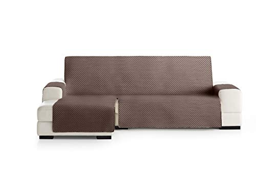 Eysa Oslo Funda, Poliéster, C/7 Marron-Vison, Chaise Longue 240cm. Válido para sofá Desde 250 a 300cm