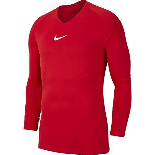 NIKE M NK Dry Park 1Stlyr JSY LS Long Sleeved t-Shirt, Hombre, University Red/White