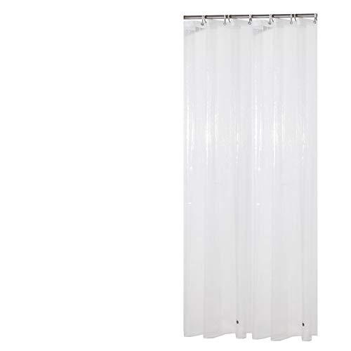 Sfoothome Wasserdichter 3D EVA Duschvorhang, schimmelbeständiger waschbarer Bad-Vorhang für Badezimmer mit Antirost-Ösen, Plastikvorhang-Ringen und schwerem Saum, 90 x 180cm