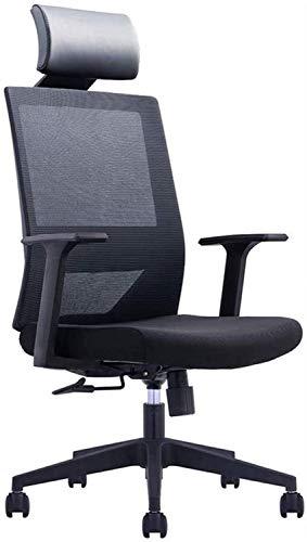 Silla de ordenador ergonómica, silla de oficina, silla de oficina reclinable, respaldo alto, silla de oficina giratoria de malla, silla ejecutiva ergonómica con reposabrazos (color negro).