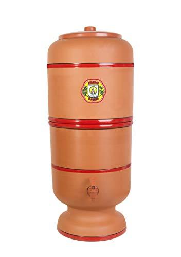 Filtro De Barro São Pedro 10 Litros com 3 Boias e 3 Velas Tripla Ação