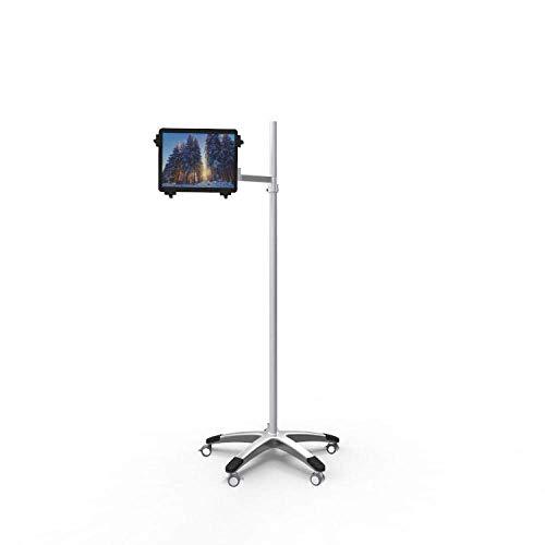 Soporte de seguridad para iPad de aleación de aluminio plateado, altura ajustable...