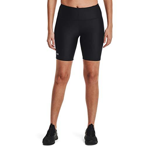 Under Armour HeatGear Armour Bike Shorts Short, Damen, Shorts, HeatGear Armour Bike Shorts, Schwarz/Metallic-Silber, Small