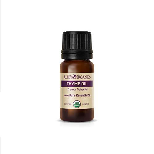 Alteya Timo Biologico (Thymus Vulgaris) 10 ml – 100% Olio Essenziale di Timo Naturale Naturale Certificato USDA