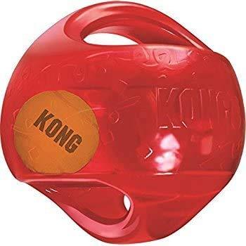 KONG Medium Dog Toy Jumbler Ball Shape Tennis Ball Inside 2-in-1...