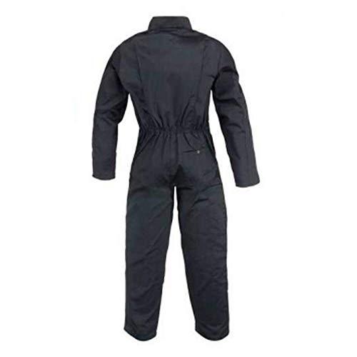 Sacla Arbeitsoverall 2 Reißverschlüsse Polybaumwolle schwarz 245 g/m2 S