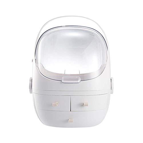 ZXCVBN Make-up organizer met grote capaciteit, stof- beweegbare handgreep, cosmetische bureau-opbergdoos, huidverzorging voor badkamer, dresser eteliteit en opzetstuk