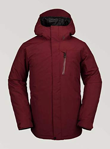 Volcom Men's L Insulated Gore-tex Breathable Snow Jacket, Burnt Red, Large