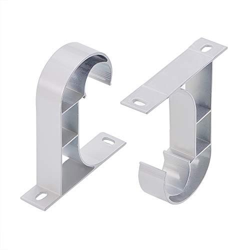 INCREWAY Soportes para Barra de Cortina, 2 Piezas Plata Aluminio Ajustables Estilo Romano Soporte de Techo Cortina Barra