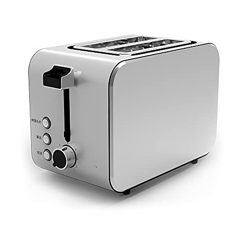 AJMINI Tostadora Doble,7 Engranajes Tostadora automática,Máquina de Desayuno,Tostadora de Acero Inoxidable,Máquina de Desayuno multifunción
