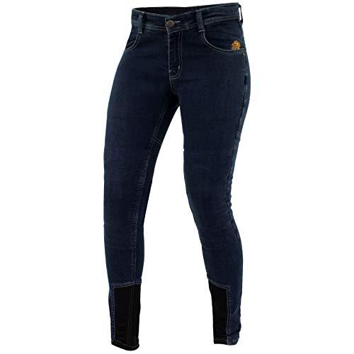 Trilobite Damen Motorradhose Jeans Allshape Daring Fit L32, Blau, 36, 2063-Daring